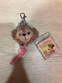 🚚 現貨熱銷*新款達菲熊 雪莉玫 伸縮鑰匙圈 鑰匙扣 一個只要80元