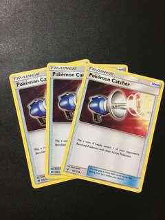 3x Pokemon catcher Pokemon card