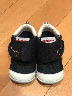 Mikihouse 日本製第一階段牛仔布學步鞋
