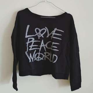 Preloved black cropped sweater