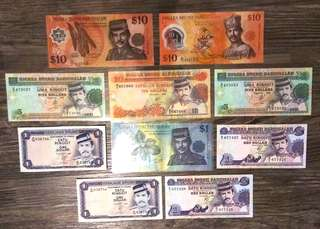 Brunei Dollar Currency Notes