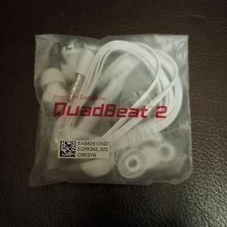 全新未開 LG QuadBeat 2 免提耳筒 Premium Earphone