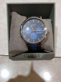 Guess Blue Strap Watch Original New Garansi 1 tahun