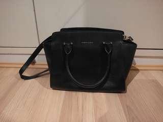 Charles & Keith Satchel Shoulder Bag in Black
