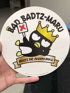 BN Authentic Sanrio Bad Badtz Maru Large Sticker