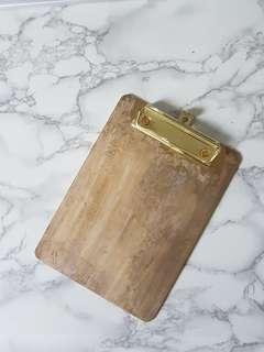 Instock Copper Brass Hotel Cafe Style Menu Clipboard