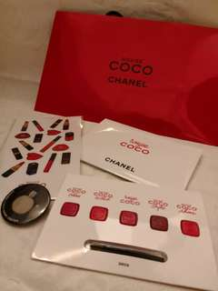 COCO Chanel makeup game gift set (limit edition) 試用禮物小套裝