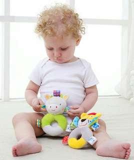🍀Baby Hand Bell Rattles Soft Plush Toy🍀