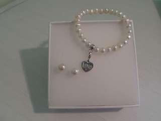 Thomas Sabo Pearls Bracelet & Earrings