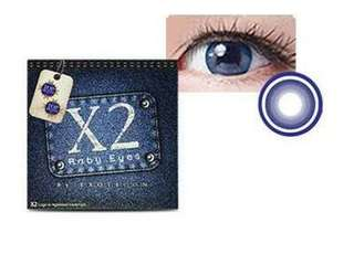 NEW (bukan preloved) Softlens X2 baby blue jeans