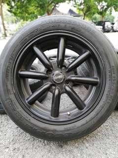 Watanabe 15 inch sports rim alza tyre 70%