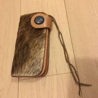 Pony Hair wallet 民族馬毛真皮銀包 Fendi