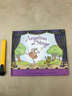 Angelina on stage hardcover