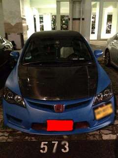 Honda civic fd (warp blue) 2.0manual convert 6 speed Big caliper Short intake 3 pic defi meter RM9100