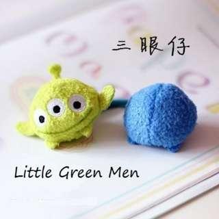 Mike Wazowski & Little Green Man Hair Band/ Hair Ties