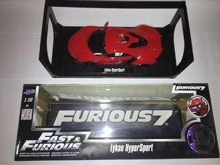 Jada 1:18 FAST & FURIOUS 8 F7 Lykan Hypersport Diecast