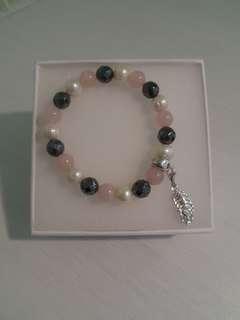 Thomas Sabo Charm bracelet with feather charm