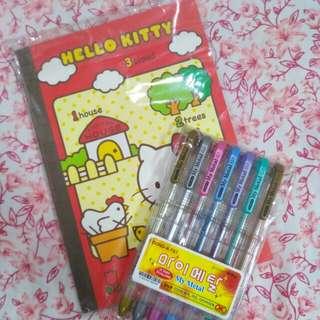 DONG-A My Metal 0.7 Pens X Original Sanrio Hello Kitty Notebook