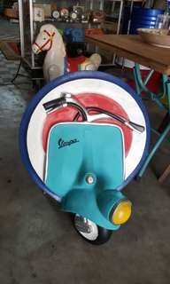 Vespa 3D Wall Sign