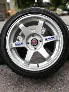 Te37sl 17 inch sports rim perdana tyre 70%
