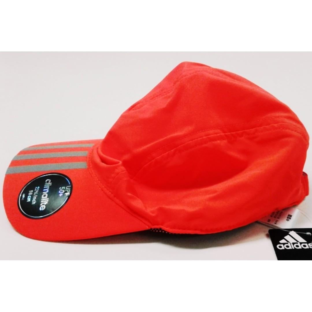 Adidas Climalite 3-Stripes UPF 50+ Running Cap 15687d9194dd