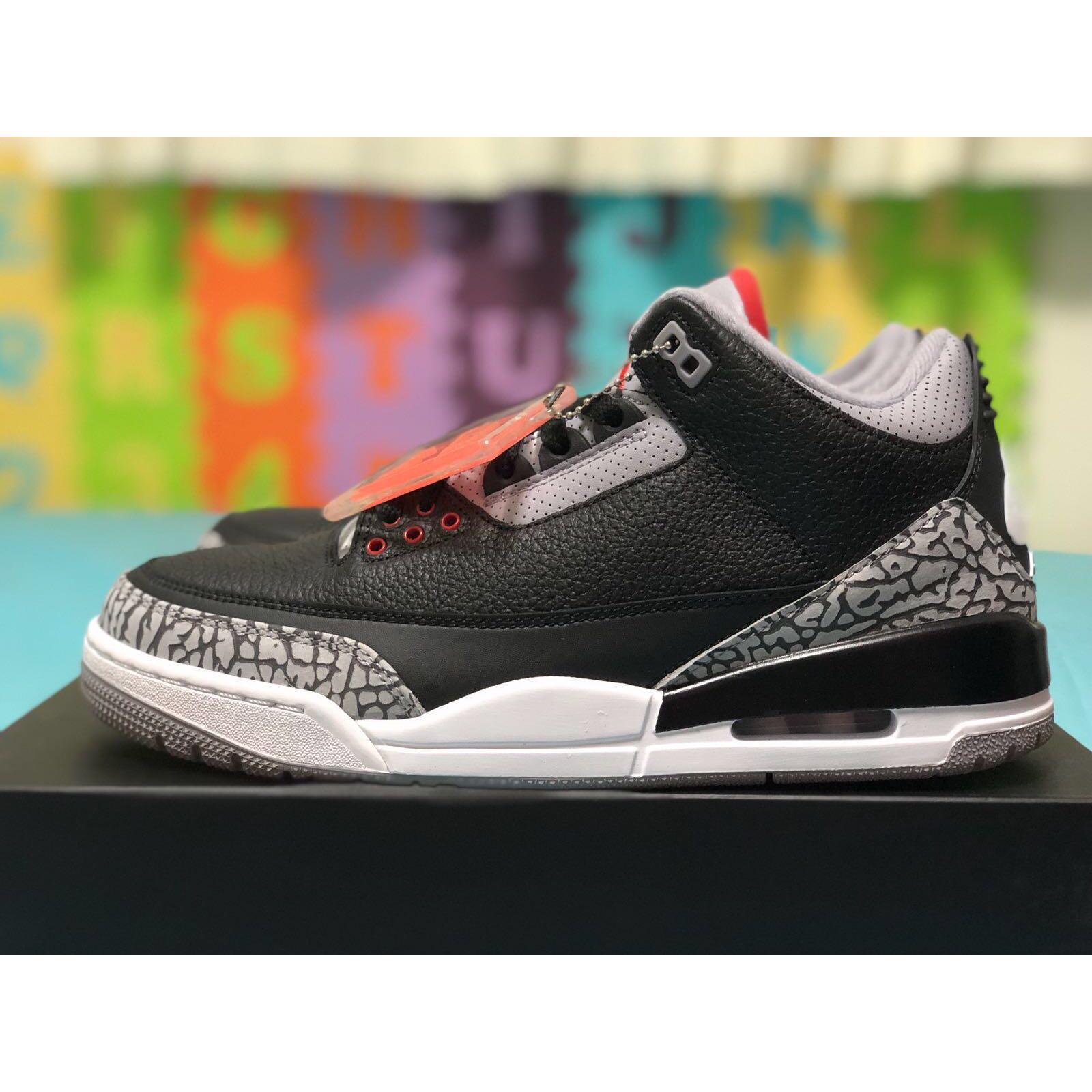 1d24626c2a2 Air Jordan 3 Black Cement 2018, Men's Fashion, Footwear, Sneakers on ...