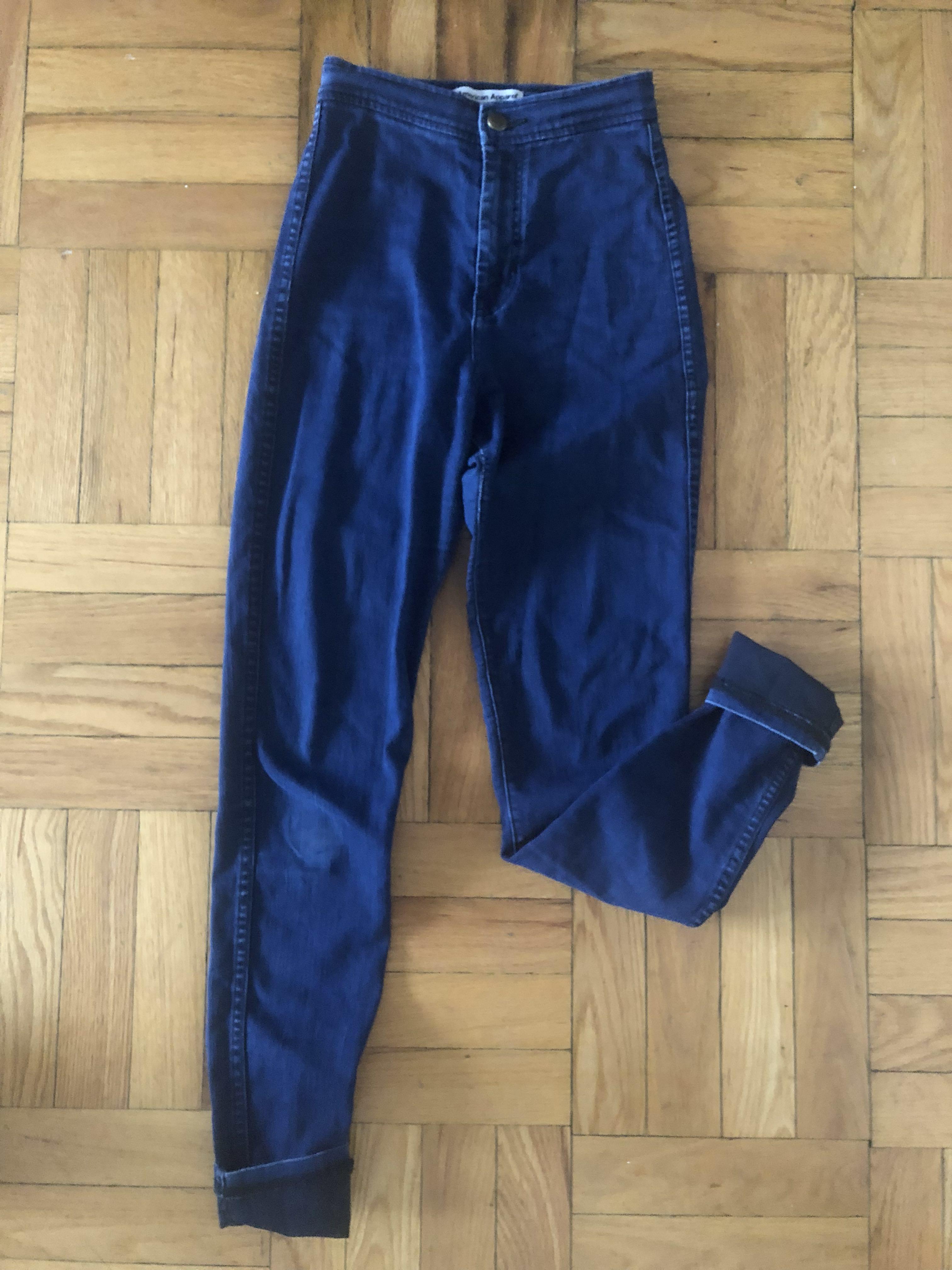 American Apparel High Waisted Indigo Jeans