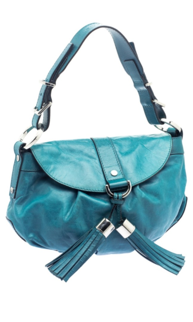 8b106b4195 Authentic Givenchy ocean blue leather shoulder bag AS-IS