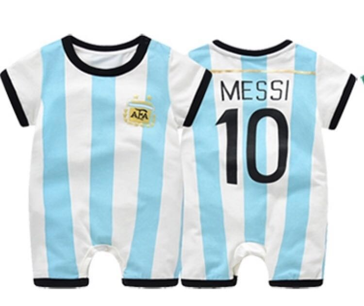 sports shoes dd86d d916c Brand new Argentina Messi Jersey inspired romper - cotton material