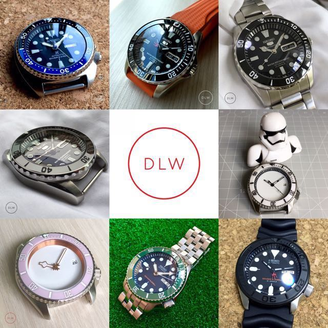 Custom Seiko Mod Parts - By DLW, Everything Else on Carousell