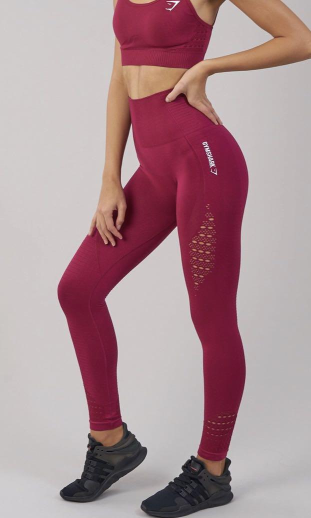 e08910a5af08f Gymshark seamless energy high waisted leggings (beet), Sports, Sports  Apparel on Carousell