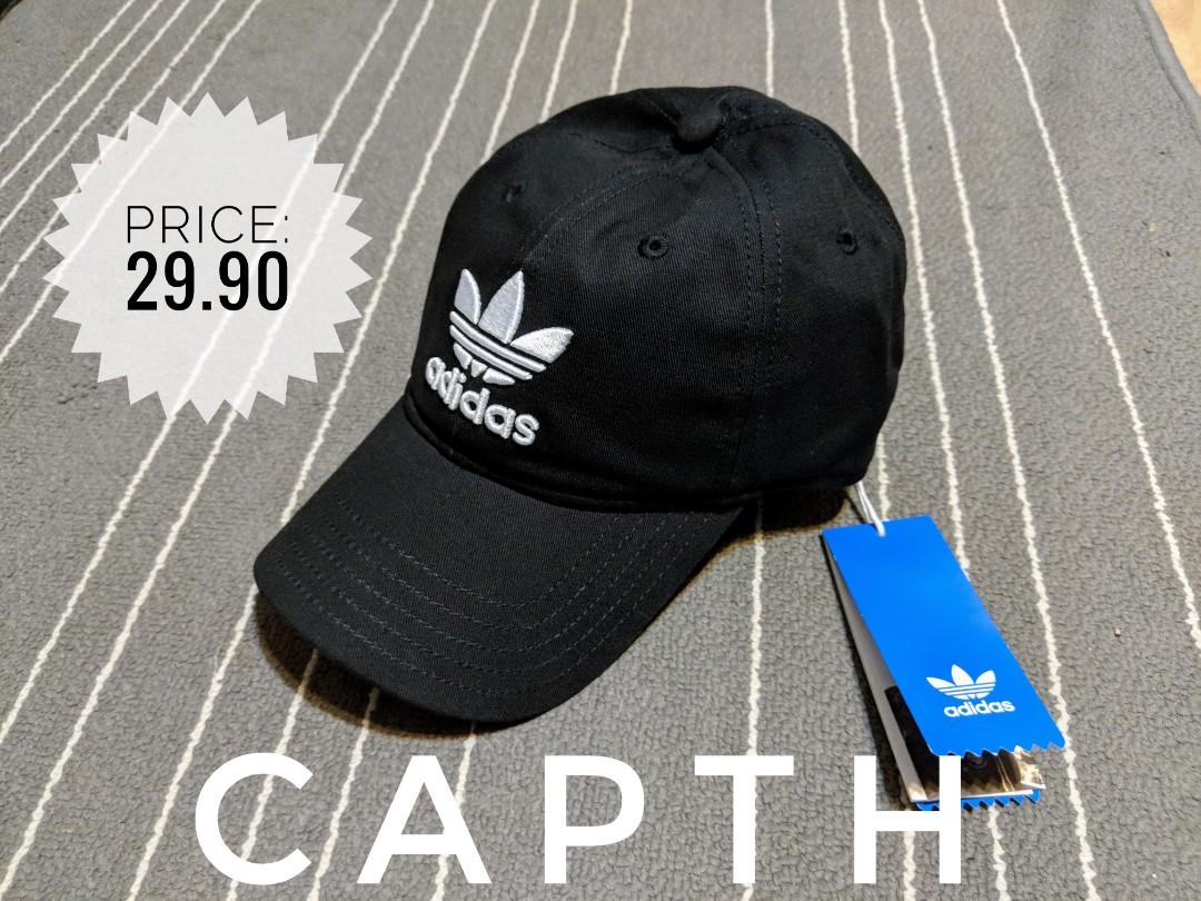 639952bb25847 INSTOCK    adidas original trefoil black cap