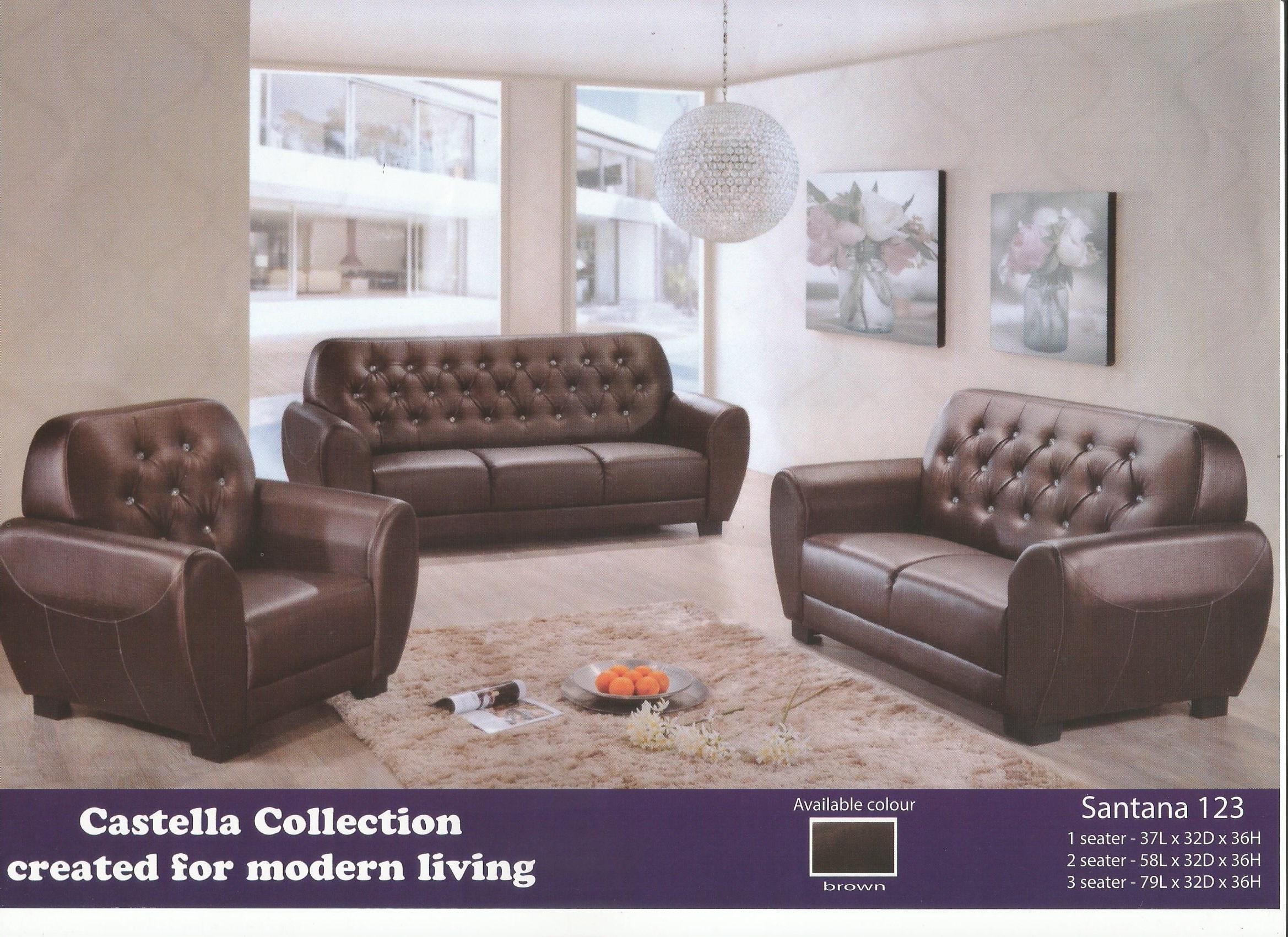 Low Price Sofa Set 1 2 3 Model Santana Home Furniture