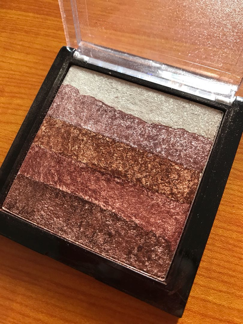 Makeup Revolution Shimmer Brick In Rose Gold Health Beauty Inside Flats Jeraldine Black Photo