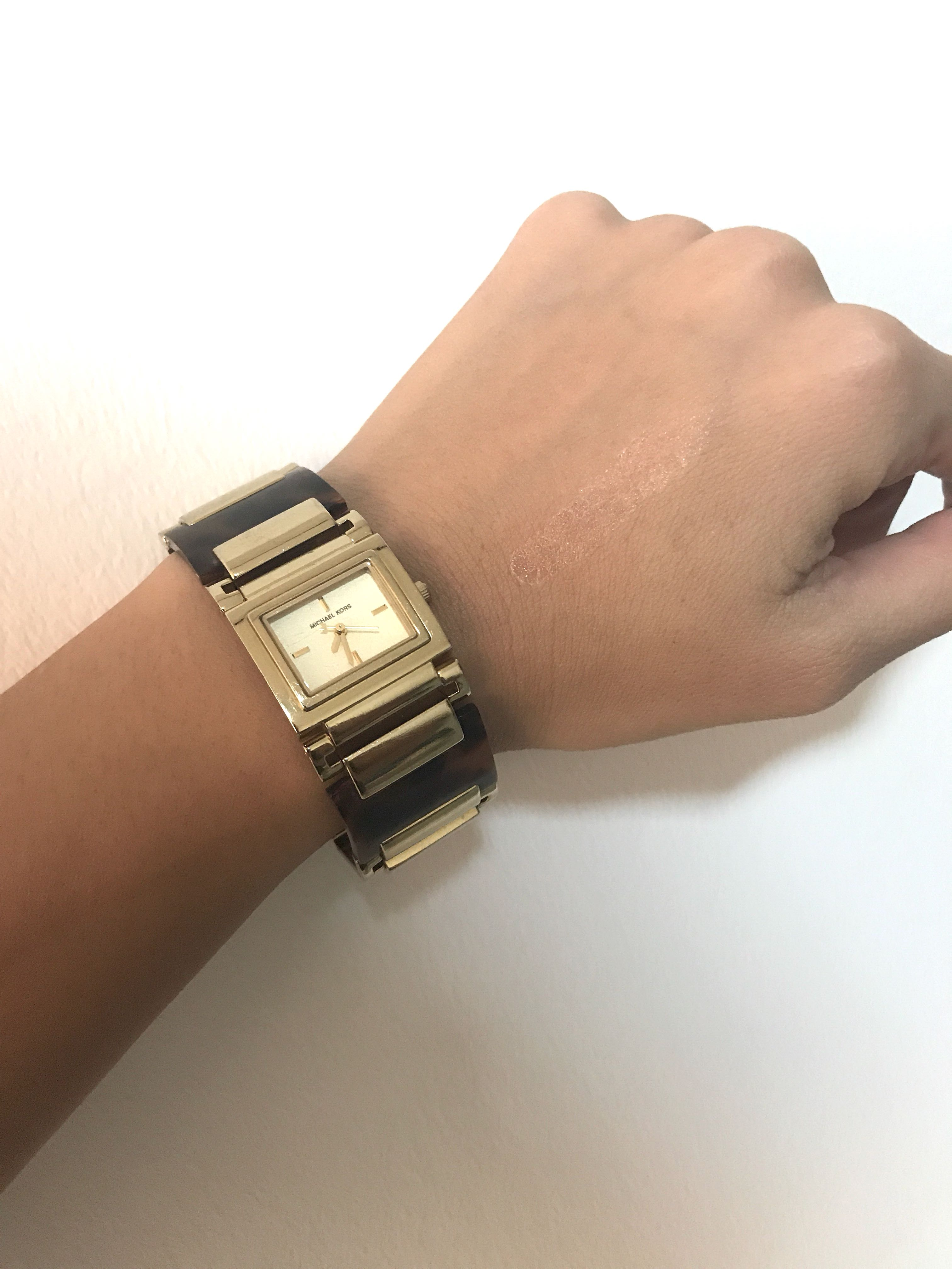07ab29a5b296 Michael Kors turtle shell watch authentic
