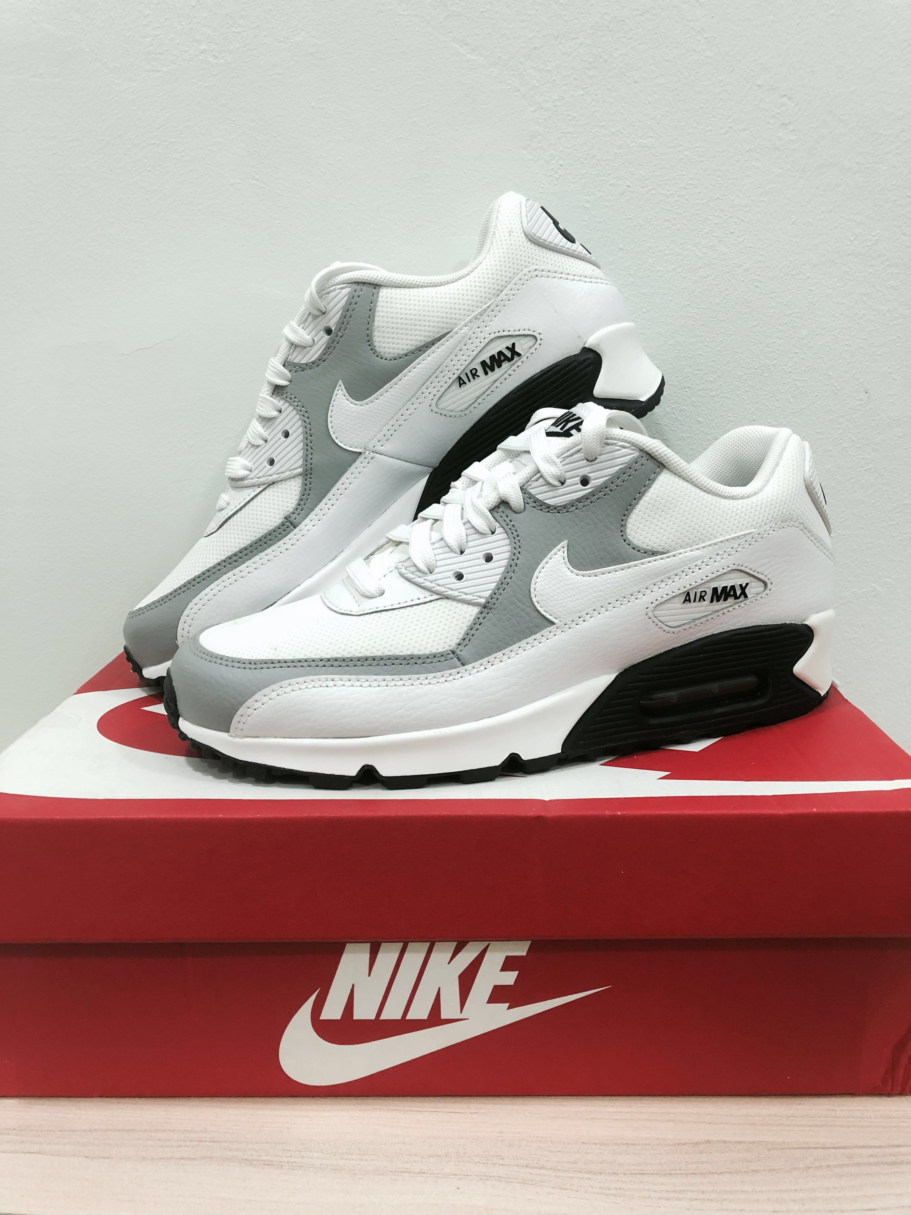 free shipping 9218f b66ee Nike Air Max 90 Wolf Grey Black Shoes, Sports, Sports Apparel on ...