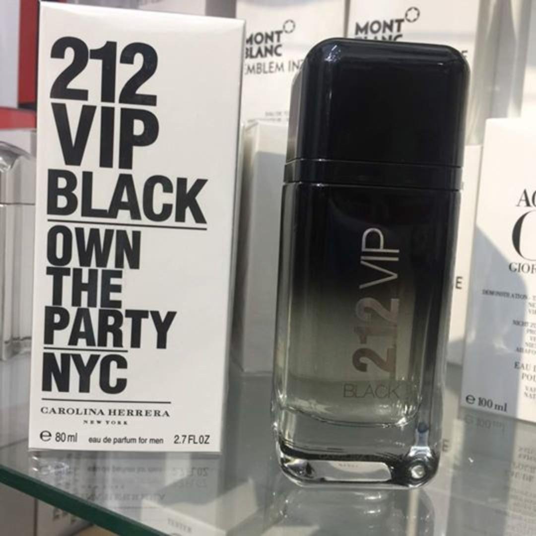 Ori Tester Carolina Herrera 212 Vip Black Edp 80ml For Him Women Everything Else Others On Carousell