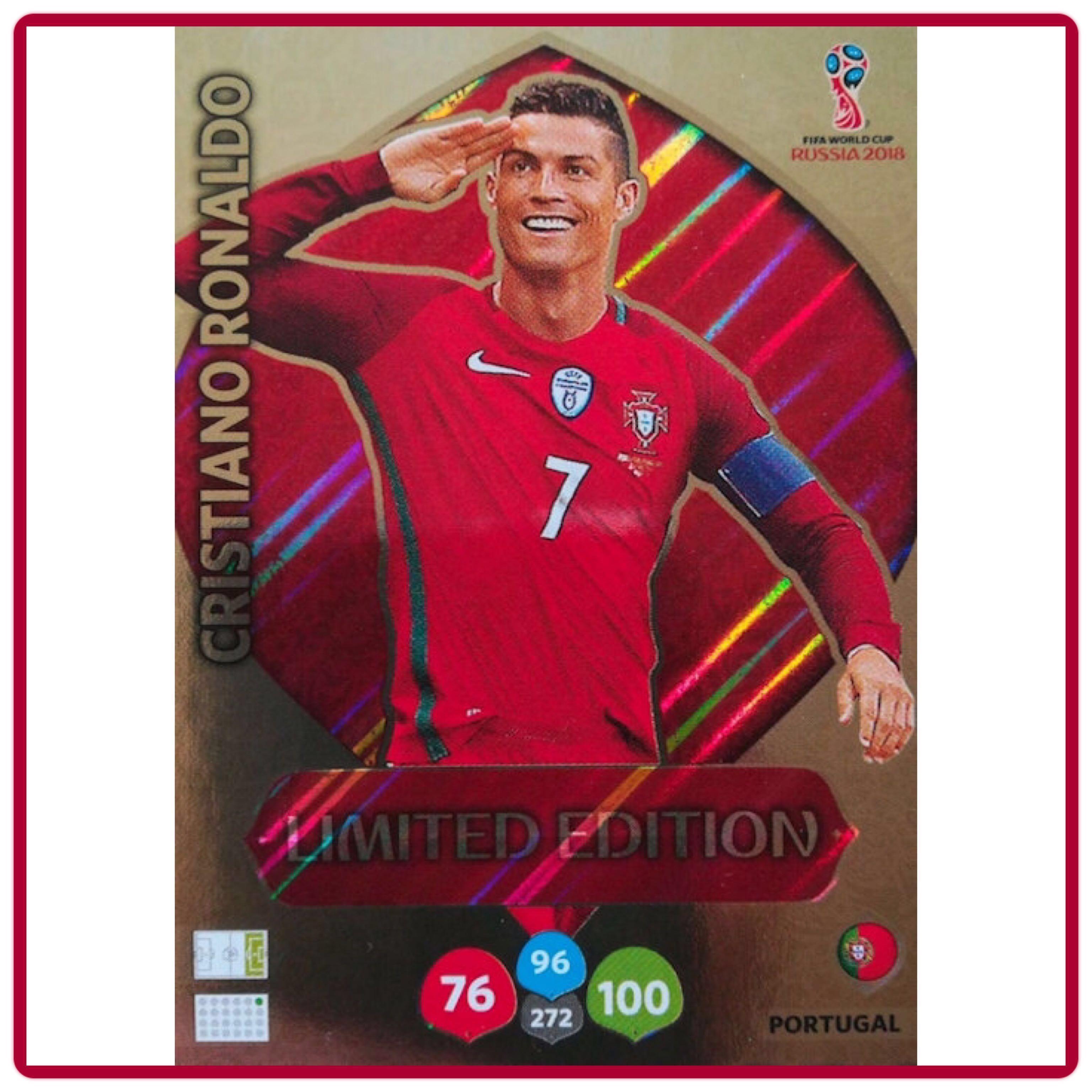 d4b95b4bcfc Panini Adrenalyn XL World Cup Russia 2018 Cristiano Ronaldo Limited Edition  XXL