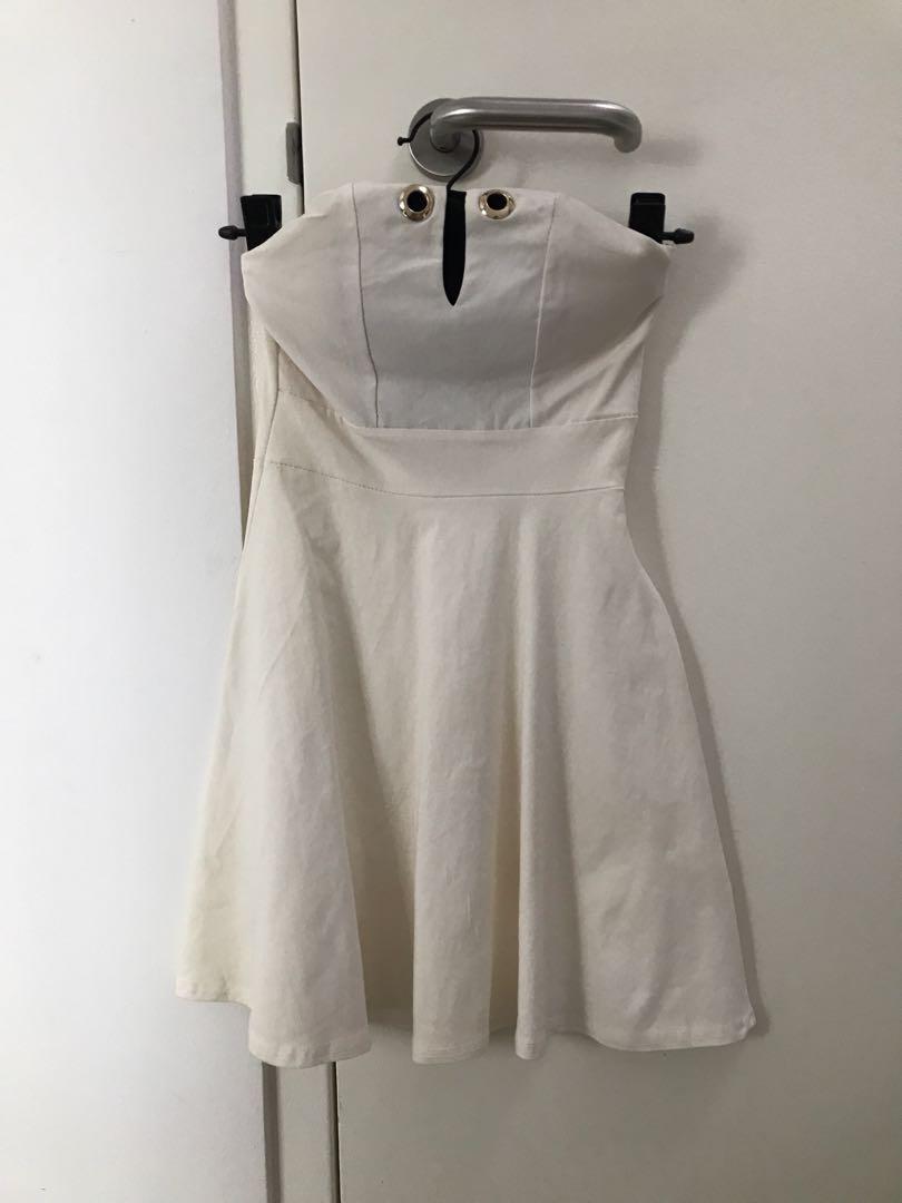 4401b3ce9fc PreLoved White Short Tube Dress