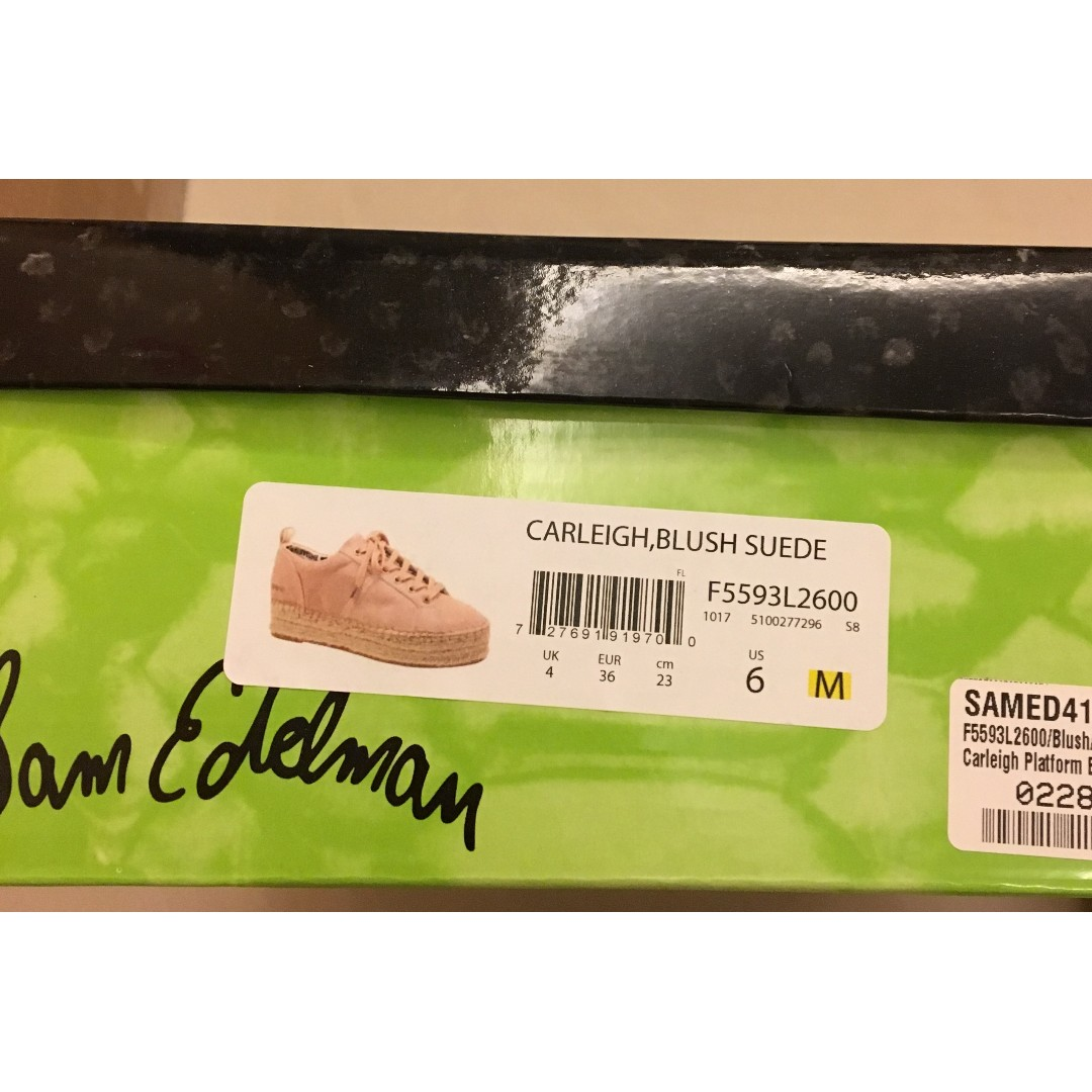 c67fcd1eaf25  Price Reduced!!!! 降價!!  正品Sam Edelman 草編厚底鞋Carleigh Platform Espadrille  Sneakers