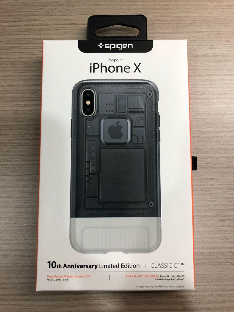 Spigen Classic C1 For Iphone X Graphite Mobiles Tablets Mobile Case One Aluminium Original Gray Photo