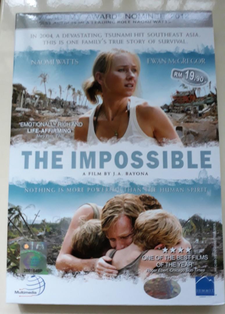 The Impossible (DVD) -Tsunami movie, Music & Media, CDs