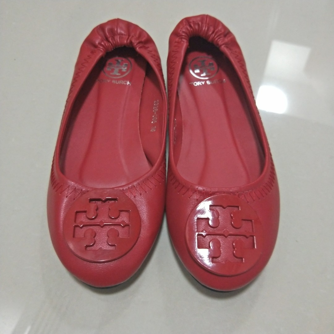 940295067 NA. Red Tory Burch Flats Pump Shoes