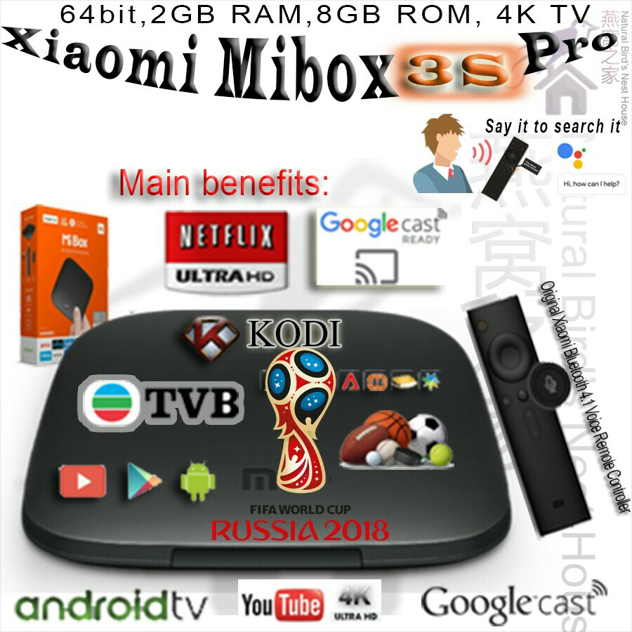 World Cup 2018 * Xiaomi Tv Box Mibox 3S Pro Global Version, Home Appliances, TVs & Entertainment Systems on Carousell