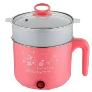 (BLUE/PINK) MULTIPURPOSE HEATING POT 1.6L ELECTRIC COOKER