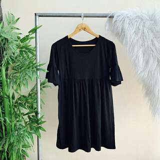 ♡Butterfly Sleeve Baby Doll Dress♡