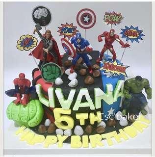 復仇者聯盟蛋糕 立體蛋糕 生日蛋糕 蜘蛛俠蛋糕 3D蛋糕
