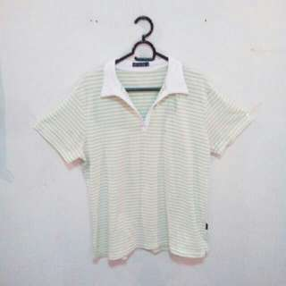 Light Green Collared Top