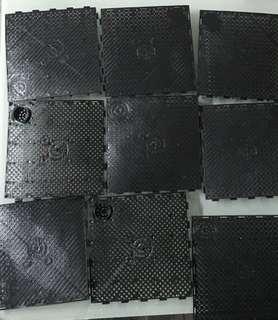 全新黑色 魚缸底濾板 過濾網底部過濾板 墊高濾材底濾隔板塑料