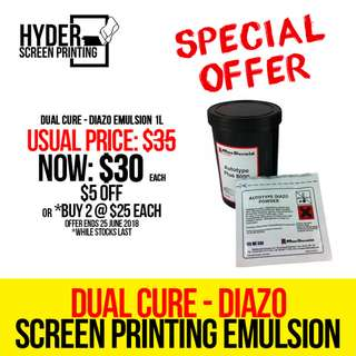 Special Offer - Dual Cure Diazo Emulsion 1L